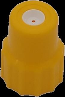 Düsenmutter mit Düse, PA, KST 0,8mm, gelb für Druckpumpzerstäuber lösemittelbest., 00431701
