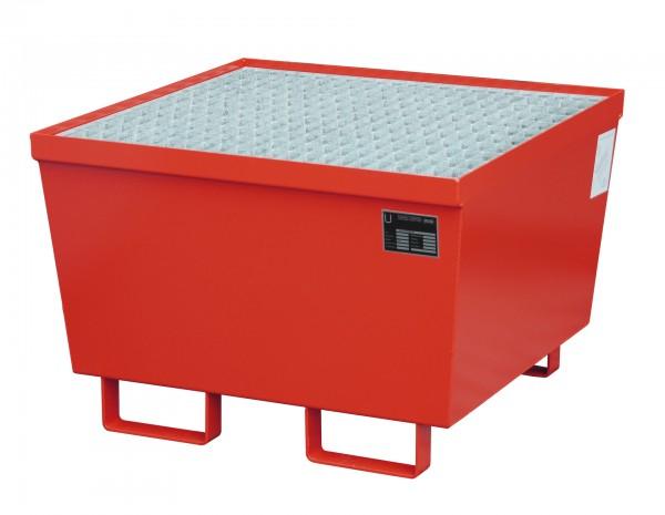 AM-1, lackiert - feuerrot 800x800x545mm, 1 x 200-l-Fass, 215 Liter