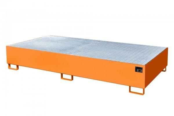 AW 1000-2, lackiert - gelborange 2650x1300x435mm, 2 x 1000-l-IBC, 1000 Liter