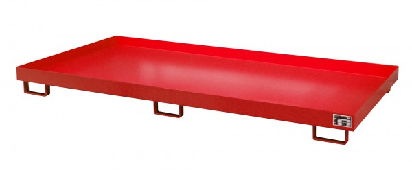 RW 2700-1, lackiert - feuerrot 2650x1300x210mm, Trägerlänge 2700mm, 240 Liter