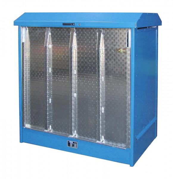 Depot GD-N/R 2, verzinkt + lackiert - lichtblau 1437x1015x1514mm, 2 x 200-l-Fässer, 210 Liter