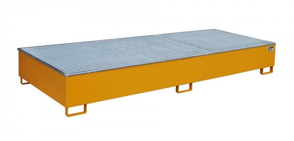 RW-GR 3300-3 PE, lackiert - gelborange 3265x1315x385mm, Trägerlänge 3300mm, 1000 Liter
