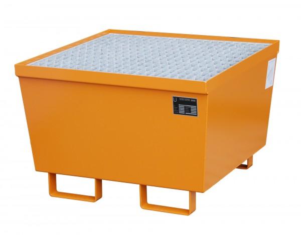 AM-1, lackiert - gelborange 800x800x545mm, 1 x 200-l-Fass, 215 Liter