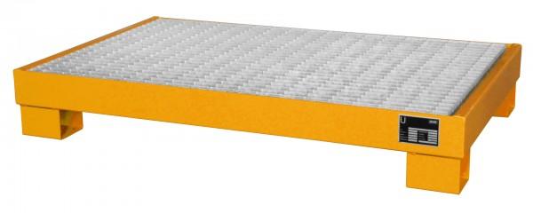 AW 60-3/M, lackiert - gelborange 1300x800x205mm, 6 x 60-l-Fässer, 74 Liter