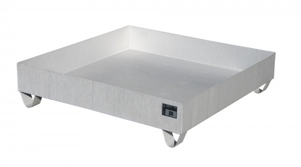 VAW-4/A, Edelstahl 1200x1200x285mm, 4 x 200-l-Fässer, 230 Liter, ohne Gitterrost