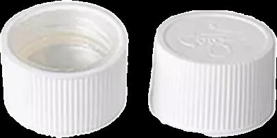 Drück-Dreh-Verschluss, kindersicher, weiss mit HF Siegelfolie für RD 25