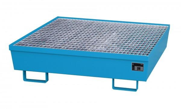 AM-4/A, lackiert - lichtblau 1200x1200x335mm, 4 x 200-l-Fässer, 245 Liter