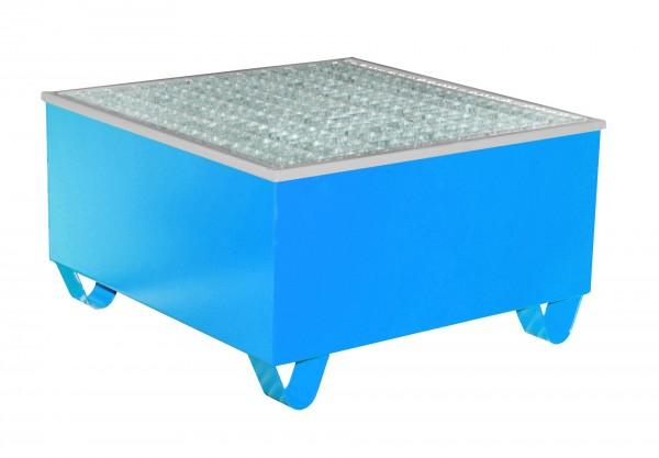 AW-1/PE, lackiert - lichtblau 815x815x470mm, 1 x 200-l-Fass, 200 Liter