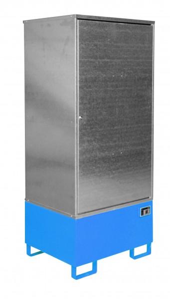 Gefahrstoff-Schrank GS-1, lackiert - lichtblau 840x690x1930mm, 1 Tür, 1 x 200-l-Fass, 200 Liter