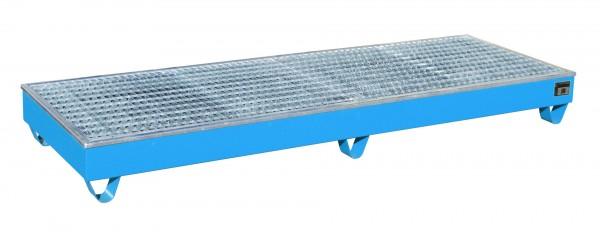 AW-4/B/PE, lackiert - lichtblau 2415x815x255mm, 4 x 200-l-Fässer, 218 Liter