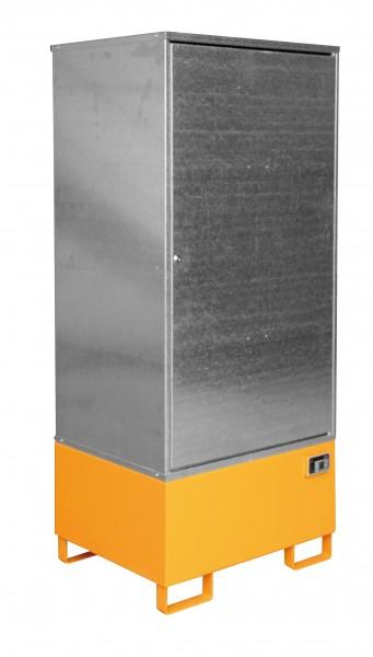 Gefahrstoff-Schrank GS-1, lackiert - gelborange 840x690x1930mm, 1 Tür, 1 x 200-l-Fass, 200 Liter