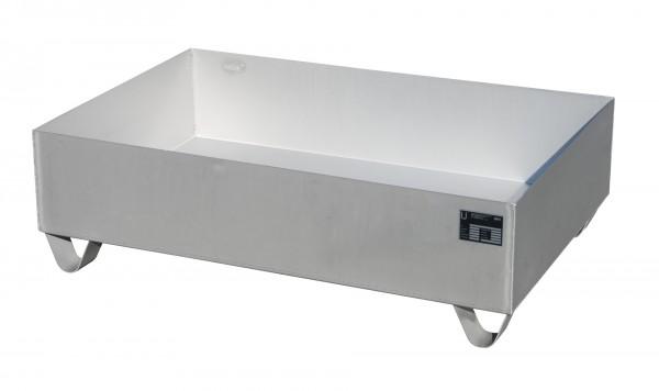 VAW-2, Edelstahl 1200x800x360mm, 2 x 200-l-Fässer, 224 Liter, ohne Gitterrost