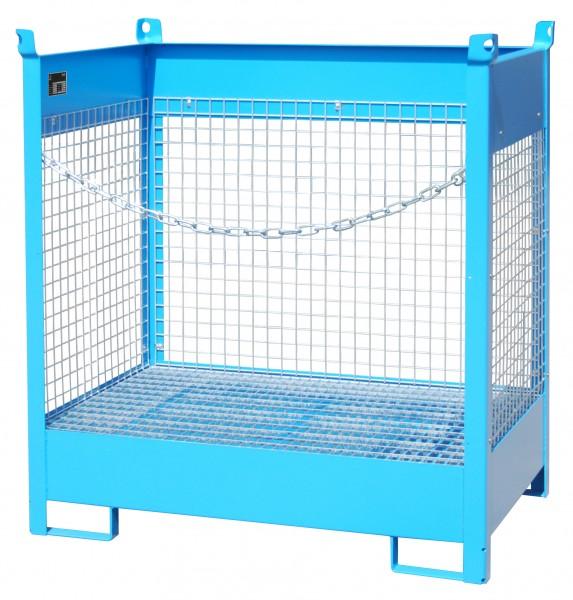 FSP-2 D, lackiert - lichtblau 920x1410x1495mm, 2 x 200-l-Fässer, 210 Liter