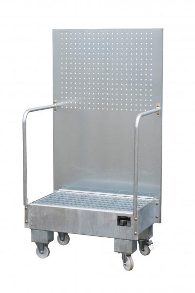 FA mit Lochplattenwand LPW 60-2, feuerverzinkt 500x800x415mm, 2 x 60-l-Fass, 60 Liter