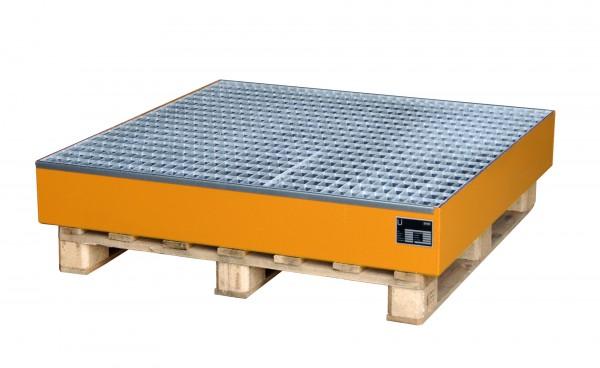 AW 2028, lackiert - gelborange 1200x1200x185mm, 4 x 200-l-Fässer, 216 Liter