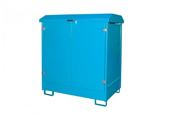Depot GD-N 2, verzinkt + lackiert - lichtblau 1437x1015x1614mm, 2 x 200-l-Fässer, 210 Liter