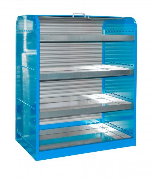 Rollladenschrank RSG-4, lackiert - lichtblau 1300x870x1610mm, 4 x 45 Liter