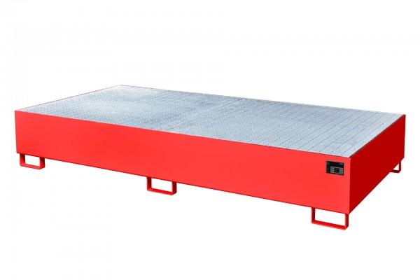 AW 1000-2, lackiert - feuerrot 2650x1300x435mm, 2 x 1000-l-IBC, 1000 Liter