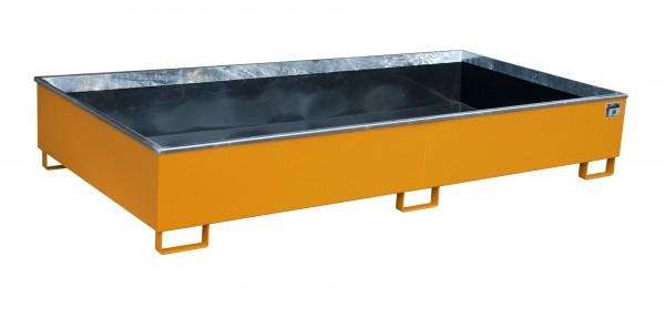 RW 2700-3 PE, lackiert - gelborange 2665x1315x440mm, Trägerlänge 2700mm, 1000 Liter
