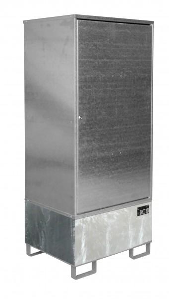 Gefahrstoff-Schrank GS-1, feuerverzinkt 840x690x1930mm, 1 Tür, 1 x 200-l-Fass, 200 Liter