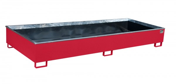 RW 3300-3 PE, lackiert - feuerrot 3265x1315x385mm, Trägerlänge 3300mm, 1000 Liter