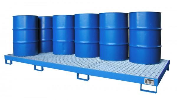 AW-10, lackiert - lichtblau 3250x1300x190mm, 10 x 200-l-Fässer, 240 Liter