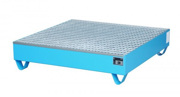 AW 2032, lackiert - lichtblau 1200x1200x285mm, 4 x 200-l-Fässer, 216 Liter