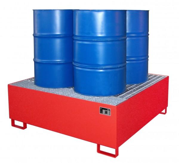 AW 800, lackiert - feuerrot 1460x1460x525mm, 4 x 200-l-Fässer, 800 Liter
