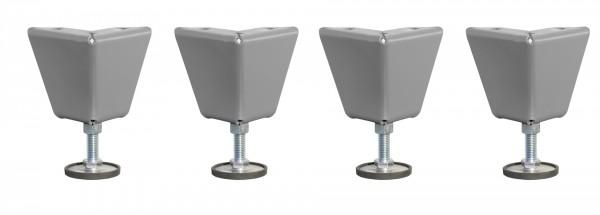 Höhenverstellbare Füße für Rollladenschrank Typ RSG Set 4 Stück