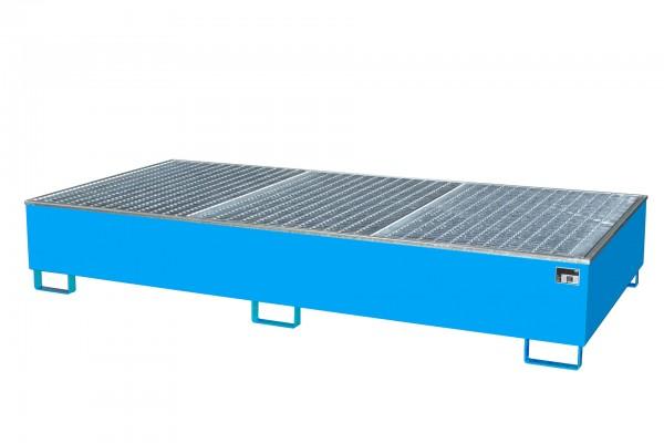 AW 1000-2/PE, lackiert - lichtblau 2665x1315x440mm, 2 x 1000-l-IBC, 1000 Liter