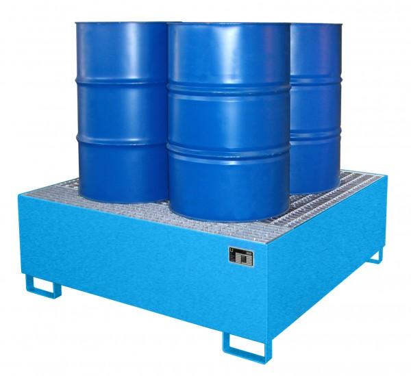 AW 800, lackiert - lichtblau 1460x1460x525mm, 4 x 200-l-Fässer, 800 Liter
