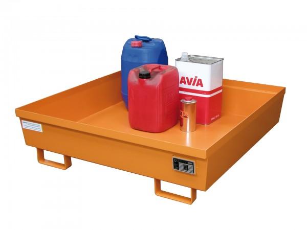 AO-4/A, lackiert - gelborange 1200x1200x335mm, 280 Liter