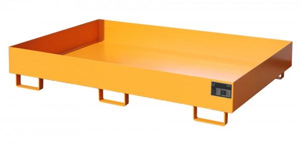 RW 1800, lackiert - gelborange 1750x1300x250mm, Trägerlänge 1800mm, 240 Liter